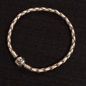 Pandora Leather Charm Bracelet.
